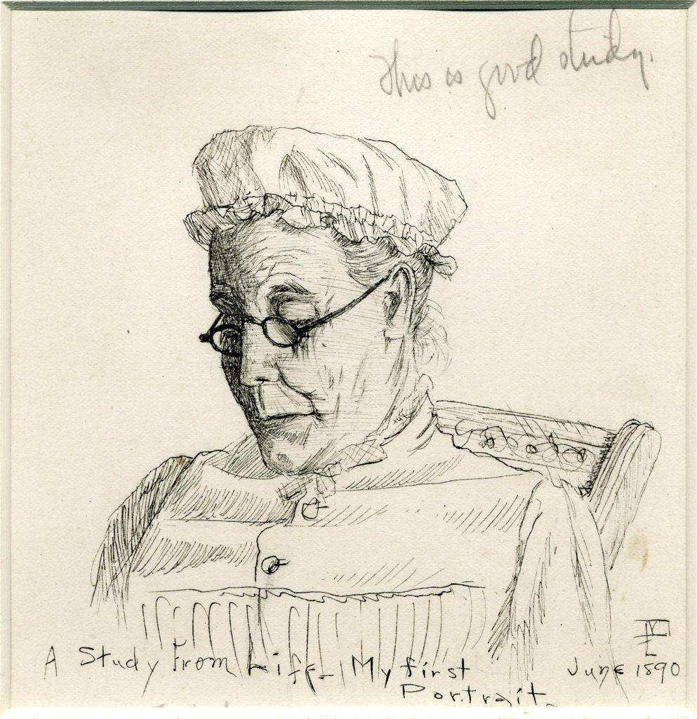 Maynard Dixon's First Portrait